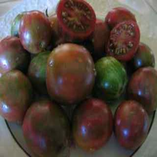 Violet Jasper Heirloom Tomatoes Whole and Sliced